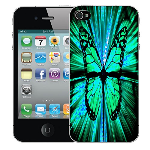 Mobile Case Mate iPhone 5 Silicone Coque couverture case cover Pare-chocs + STYLET - Hybrid Butterfly pattern (SILICON)