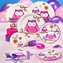 Owl Blossom Party Supplies - Standard Party Pack for 8