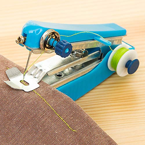 Euone Portable Needlework Cordless Mini Hand-Held Clothes Fabrics Sewing Machine
