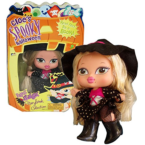 MGA Entertainment Bratz Babyz Storybook Collection 5 Inch Doll Set - CLOE'S SPOOKY HALLOWEEN with Cloe as Witch, Hairbrush and Story Book For You