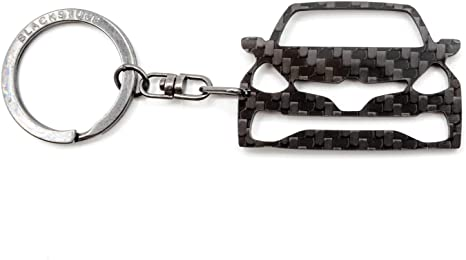 BlackStuff Carbon Fiber Keychain Keyring Ring Holder Compatible with Clio III Sport RS 2005-2012 BS-828