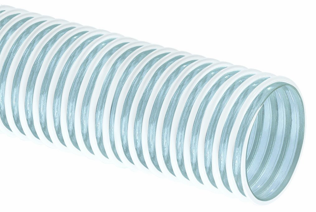 Tigerflex Cover Guard CG Series PVC Ducting and Cover Protection Hose, 12 PSI Max Pressure, 2-3/8 inches ID, 100 feet Length