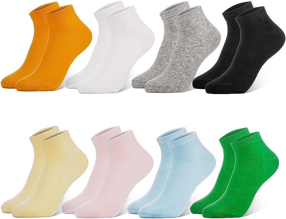 WeciBor Calzini Alla Caviglia In Cotone Casual Colorati Fantasiosi Design Divertenti Colorati Calze Da Donna