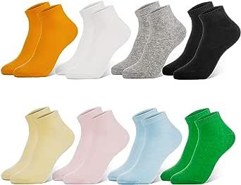 Newdora Calcetines Mujer, 8 Pares Calcetines Tobilleros Mujer Cortos e Invisibles, Antideslizante Algodón Calcetines transpirables e deportivos: Amazon.es: Ropa y accesorios