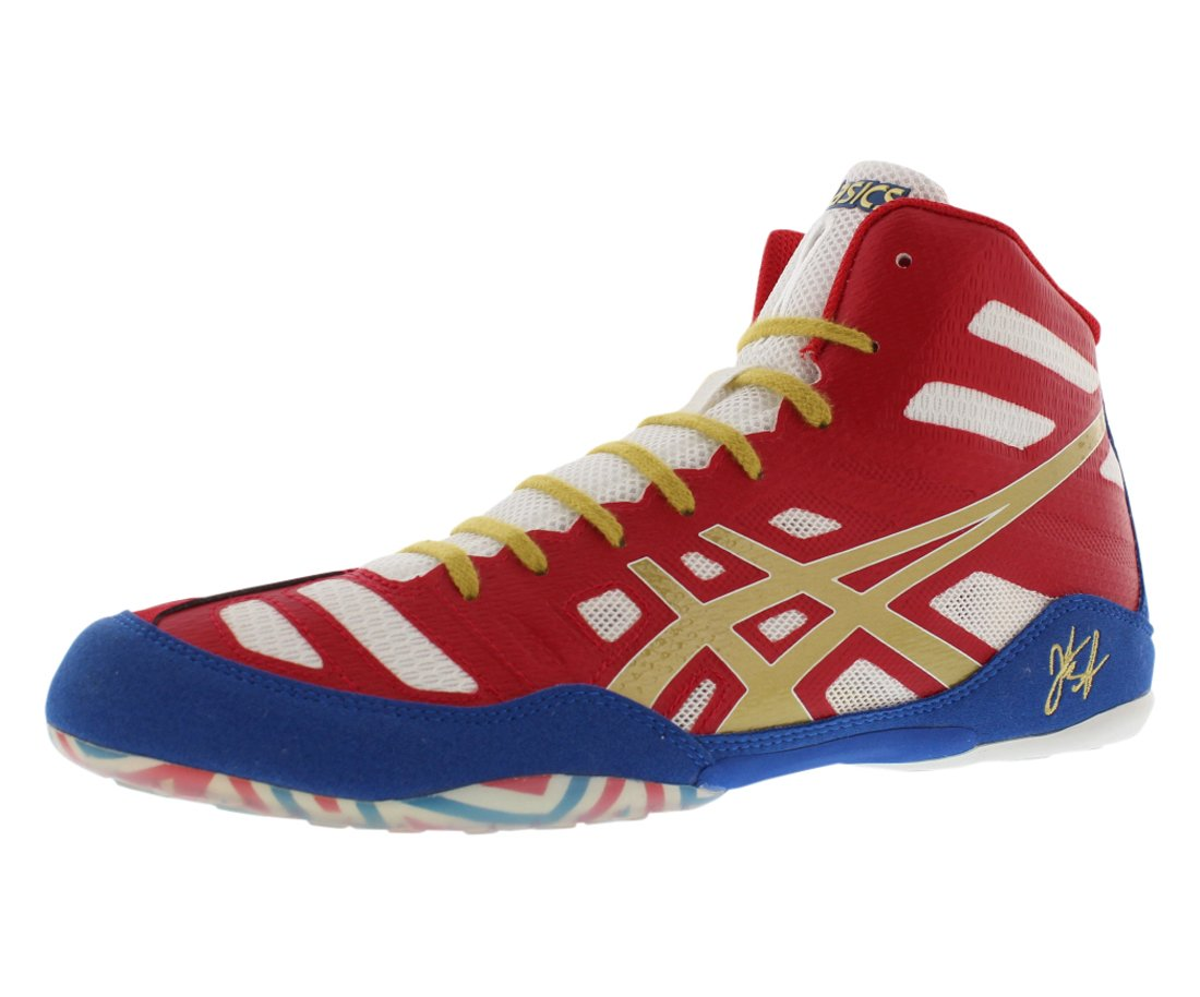 ASICS Men's JB Elite Wrestling Shoe,True Red/Olympic Gold/White,10.5 M US/43.5 EU by ASICS
