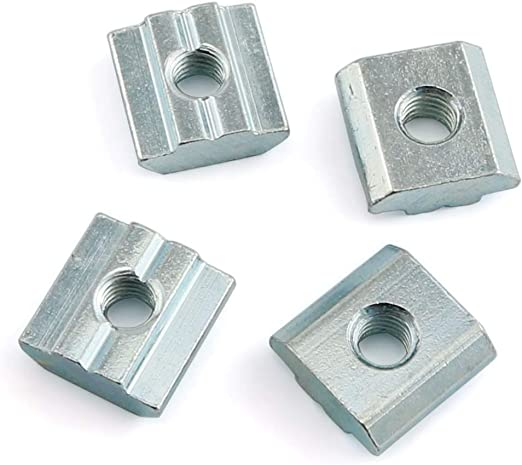 Binzzo T Nuts Tee Sliding Slot Nuts 40 Series M5 Threaded Slide in Pre-Assembly for 40x40 Aluminum Extrusions Frame with Profile 4040 Sereis 8mm Slot for CNC Router Build Rail 3D Printer 8Pcs
