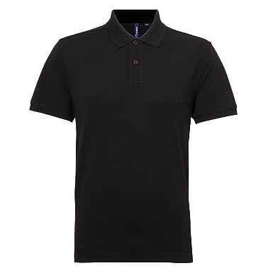 6c6e4a5d Asquith & Fox Mens Classic Fit Performance Blend Polo T Shirt - 25 - Black*
