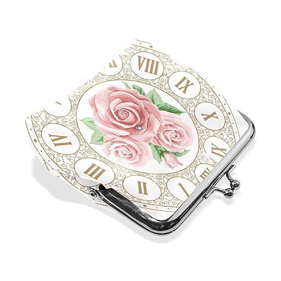Amazon.com: Monedero vintage con cara de reloj con dibujo a ...