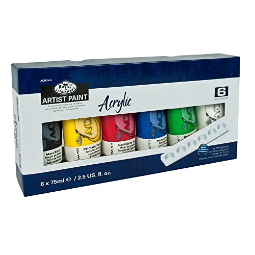 Royal & Langnickel ACR75-6 Assortiment de 6 Tubes de peinture acrylique 6 x 75 ml