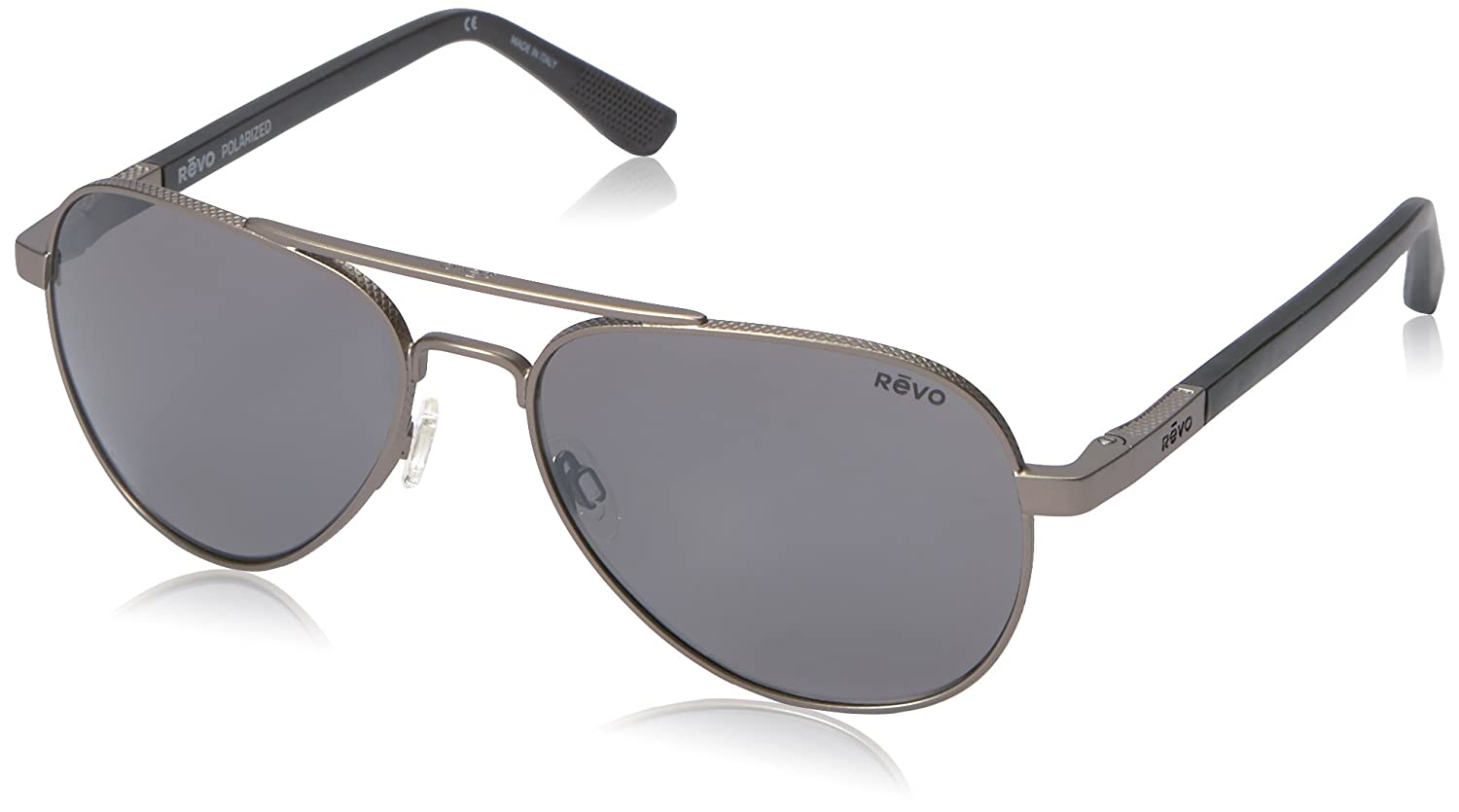 cd2a660dbdc Amazon.com  Revo Raconteur RE 1011 00 GY Polarized Aviator Sunglasses