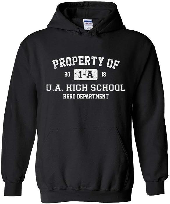 3a8df7d7d7b6 95Vibes Property of 1-A U.A. High School My Hero Academia Inspired Unisex  Pullover Hoodie