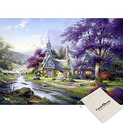 Puzzle Life Clocktower Cottage Thomas Kinkade 500 Piece Jigsaw Puzzle