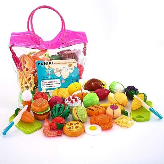 Amazon.com: SONiKi Juguetes de comida frutas verduras juego ...