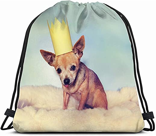 Fang Shop Cute Chihuahua On Blanket Crown Animals Wildlife Dog Holidays Drawstring Bag Backpack Gym Dance Bag Amazon Co Uk Sports Outdoors
