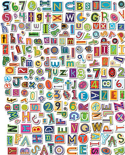 - Creative Teaching Press 4-Inch Designer Letters, Collage Art (4382)