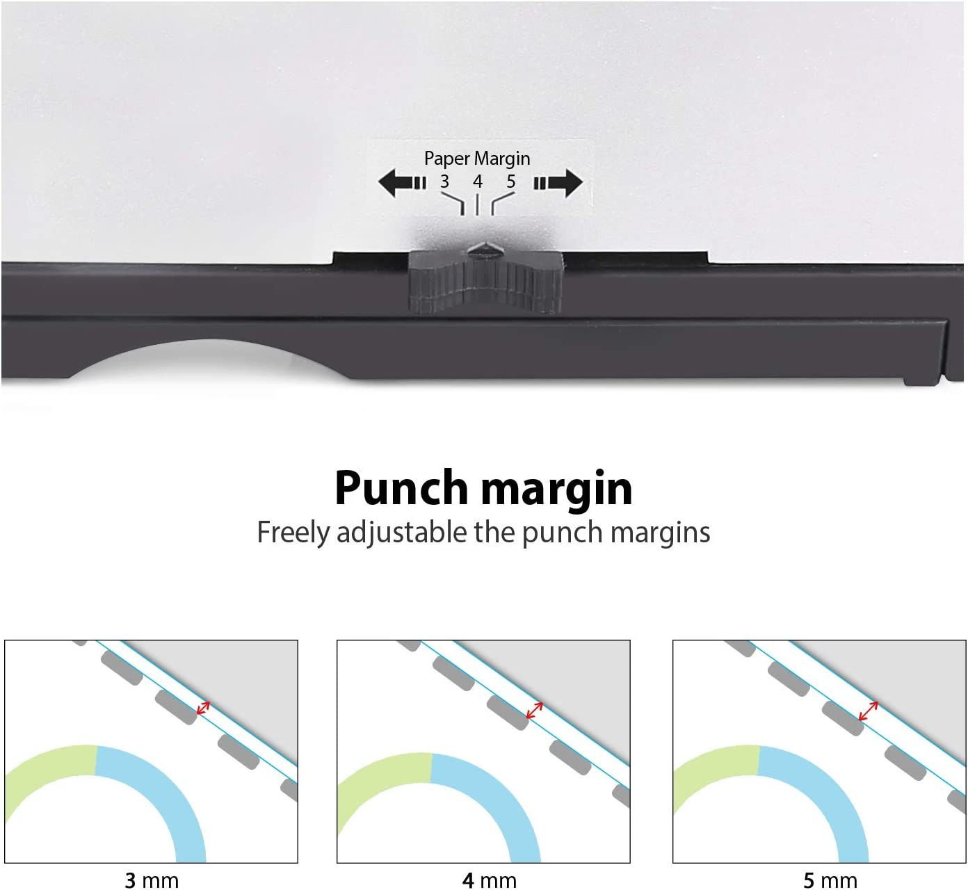 M/áquina encuadernadora Con kit de iniciaci/ón de 100 piezas de 3//8 a 21 anillas negras peines 21 agujeros hasta 450 hojas