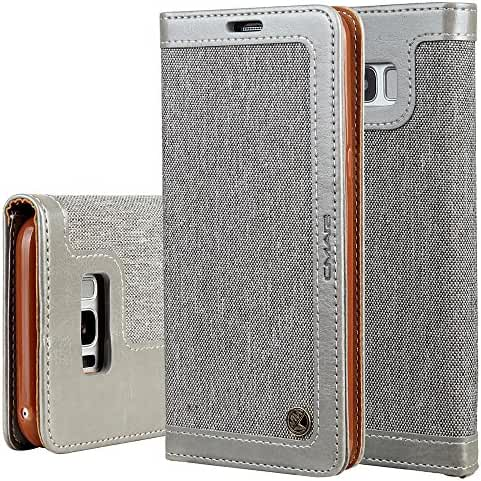 Phone Case with Card Slot Wrist Strap Magnetic Leather Wallet Case for iPhone 6/7 Samsung Galaxy S8