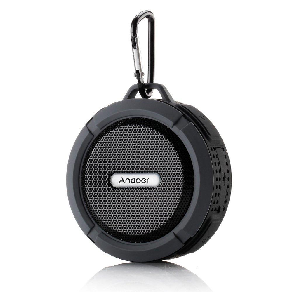 Andoer® Altavoz Estéreo Portátil al Aire Libre 5W Inalámbrico Bluetooth 3.0 con Micrófono Manos libres Resistente al Agua A prueba de Golpes y Polvos: ...