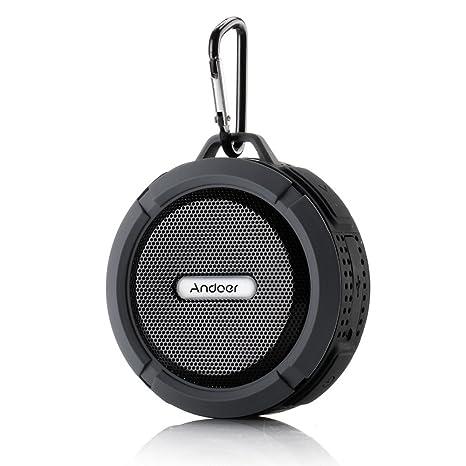 Andoer® Altavoz Estéreo Portátil al Aire Libre 5W Inalámbrico Bluetooth 3.0 con Micrófono Manos libres