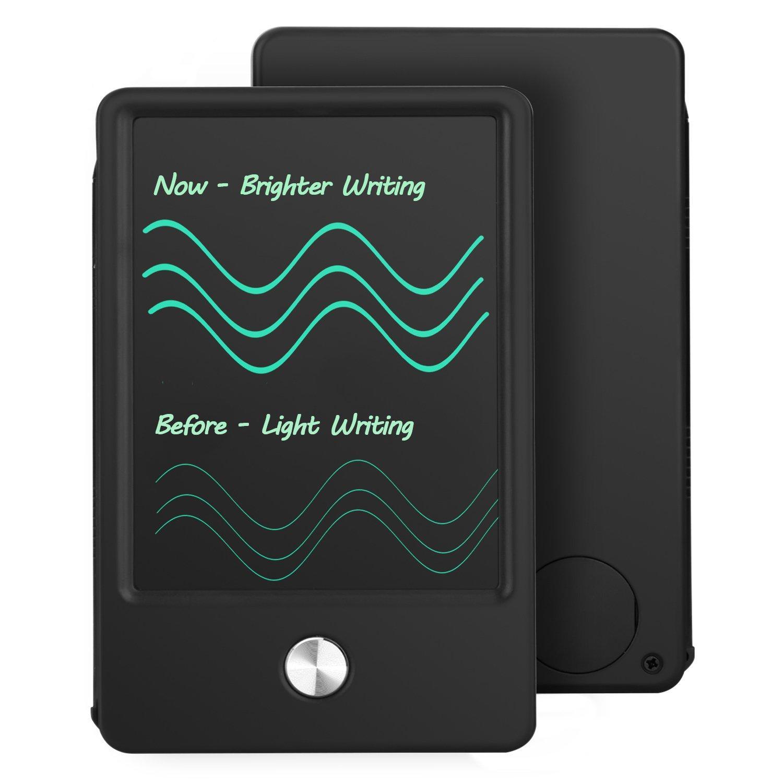 HOMESTEC Tableta de Escritura LCD para Almohadilla de Bolsillo - NEWYES NYWT045A - Tamaño de Mano DE 4.5 Pulgadas Carry Away Note Board (Negro) HS10