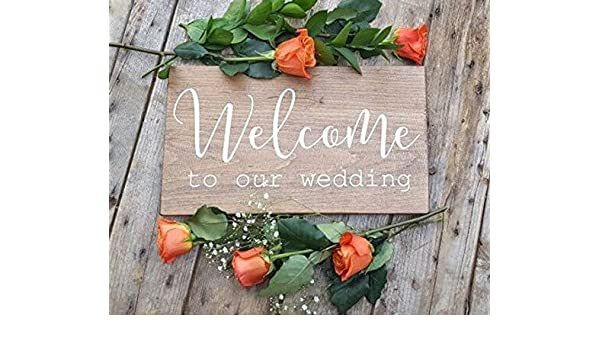 Amazon Onepicebest Welcome To Our Wedding Wedding Sign Board