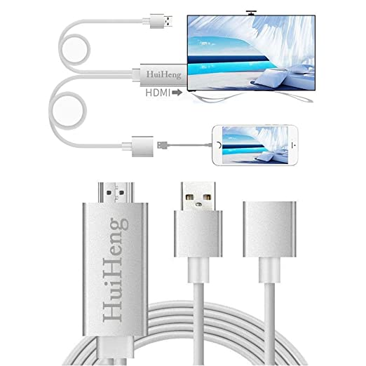 19 opinioni per HuiHeng 3 in 1 Full HD mirroring Cavo HDMI fulmine MHL HDMI Cable Plug and Play