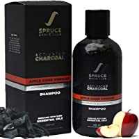 Spruce Shave Club Charcoal Shampoo For Men with Apple Cider Vinegar & Biotin For Dandruff & Hair Fall Control (200ml)