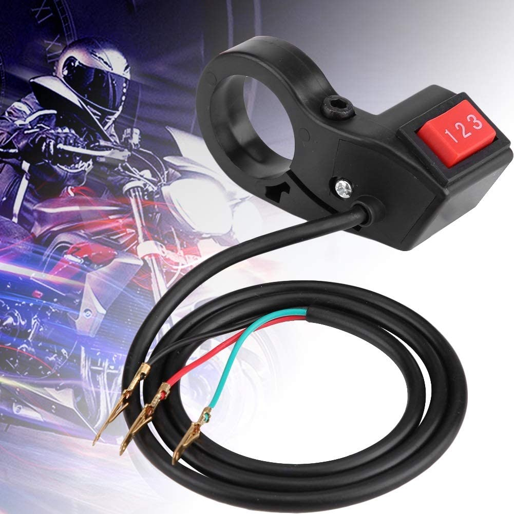 Enrilior 22mm 7//8in Handlebar Electric 3 Speed Module Switch Shift Compatible with Motorcycle E-Bike Scooter