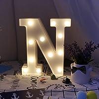 Missley Letras del LED letras blancas del alfabeto