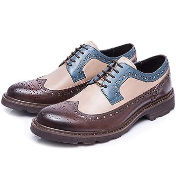 GOAIJFEN Brogue Zapatos Formales de los Hombres de ...