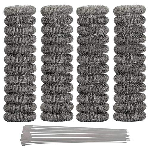 MANSHU 48 Pieces Galvanized Iron Washing Machine Lint Traps Snare Laundry Mesh Washer Hose Filter with 48 Pieces Cable Ties. ()