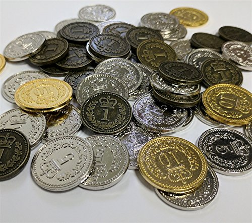 GENERIC METAL COINS: SET OF 110 (LISBOA, BRASS) by Eagle-Gryphon Games
