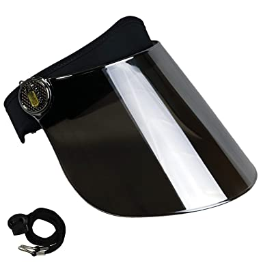501611a9fff Sun Visor Hat Cap UV Protection - Premium Adjustable Solar Headband Face  Shield Black