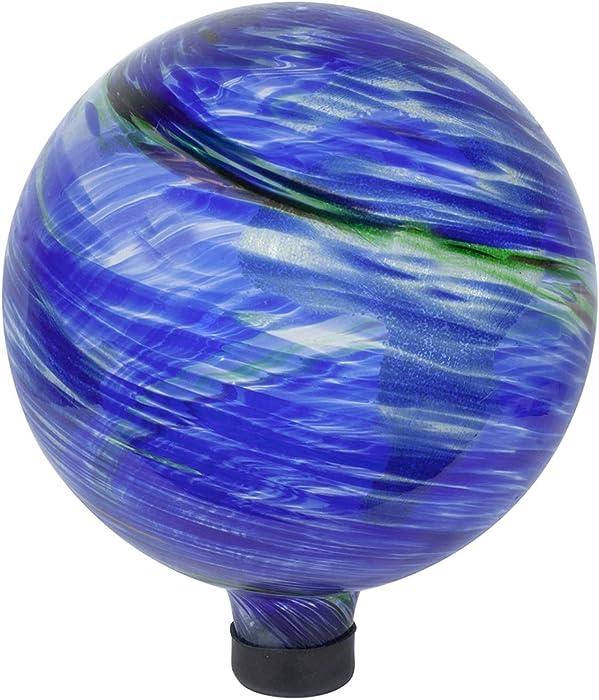 Echo Valley 8149 10-Inch Glow-in-the-Dark Illuminarie Glass Gazing Globe, Earth Swirl