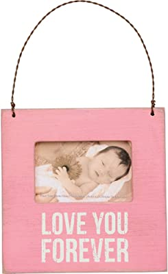 Primitives by Kathy Mini Picture Frame-Love You Forever (Pink)