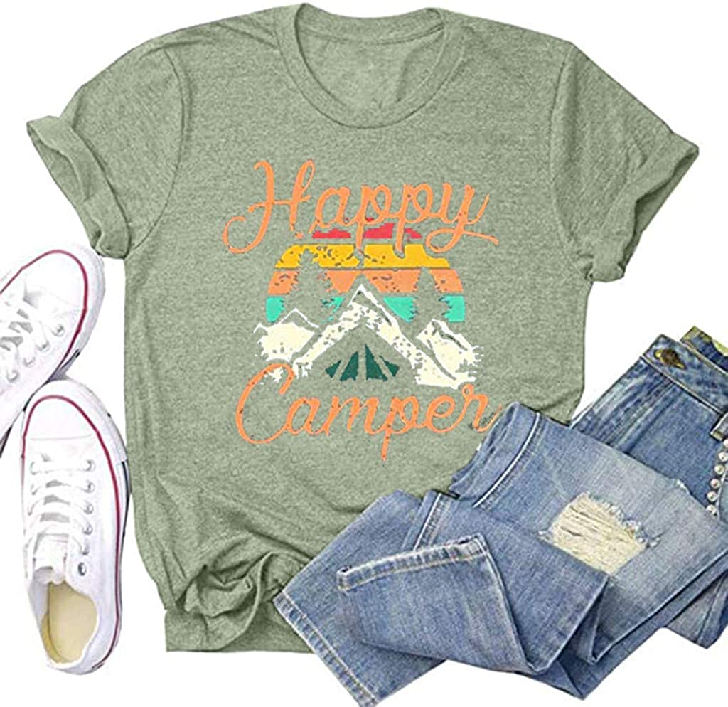 Women Baseball Tee Tops Travel T Shirt Compass Graphic Short Sleeve Cotton Casual Tops Loose Pullover