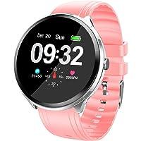 LUCWI Reloj Inteligente Smart Watch Fitness Tracker Smart Watch IP67 Pantalla Táctil Monitor de Actividad, Monitor de Pasos, Reloj Deportivo Inteligente para niños, Mujeres y Hombres