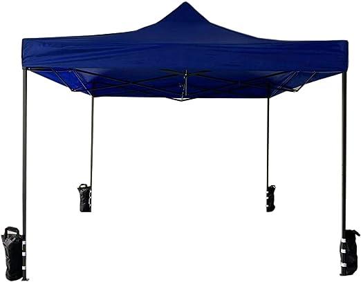 Rebecca Mobili Cenador Pabellón Plegable con 4 Pesos Azul Poliéster Metal Funda de Transporte Festival Terraza Fiesta - 3, 1x3x3 m (A x AN x FON) - Art. RE6327: Amazon.es: Jardín