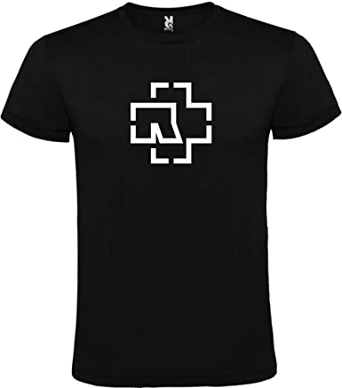 Roly Camiseta Rammstein Logo Negra para Hombre 100% ALGODÓN Talla ...