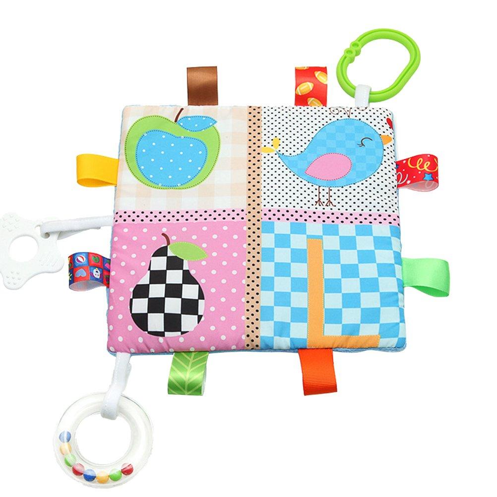 toymytoy Rattle Teething Toys Baby Crinkleおもちゃベビーカーおもちゃ 19x19x0.5cm O33GB4RJXNOH2137B5HN71 19x19x0.5cm Bird and Pear B07D221X1F