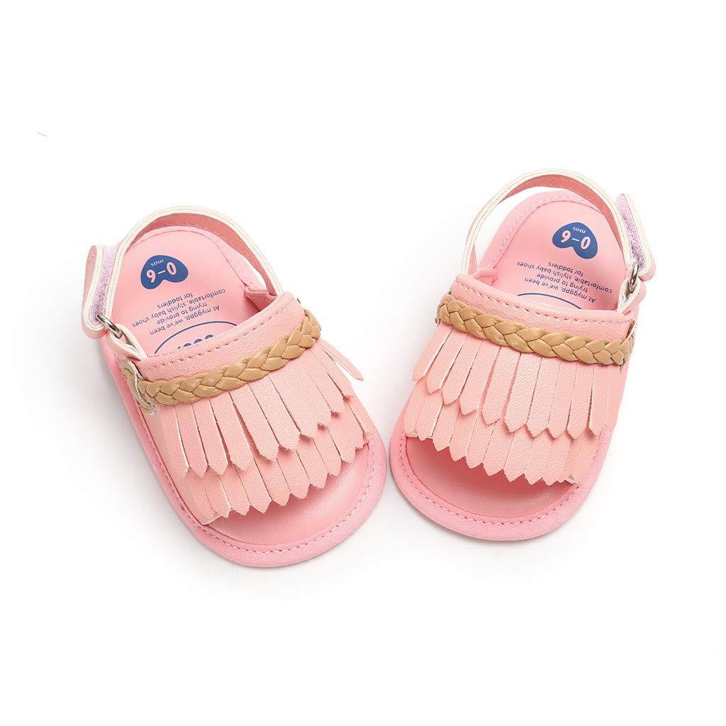 Toddler Kids Newborn Baby Girls Sandals Summer Prewalker Tassels Open Toe Slippers Boots Mary Jane Soft Sole Crib Shoes