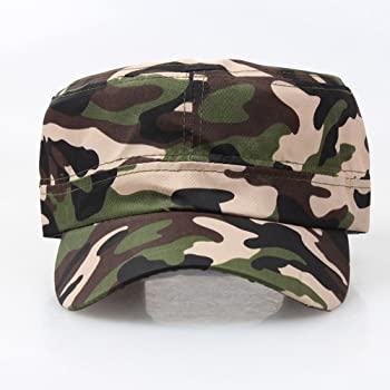 e0e440a3eb2e8c Mens Camouflage Military Cotton Hat Summer Army Peaked Dad Cap Adjustable  Distressed Washed Cadet Patrol Bush Hat. Mens Camouflage Military Cotton Hat  ...