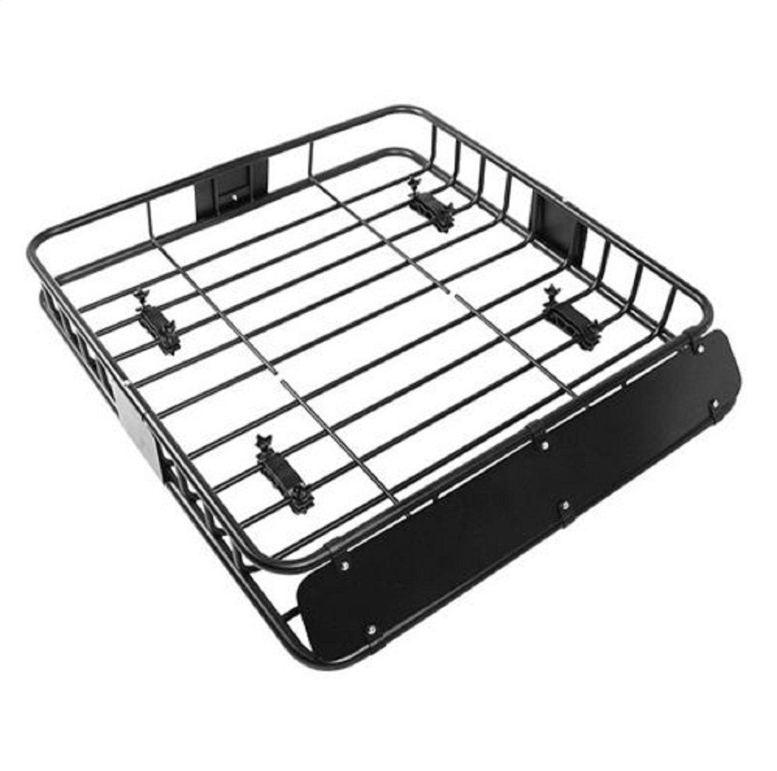 New Black Universal Roof Rack Cargo Car Top Luggage Holder Carrier Basket Travel SUV