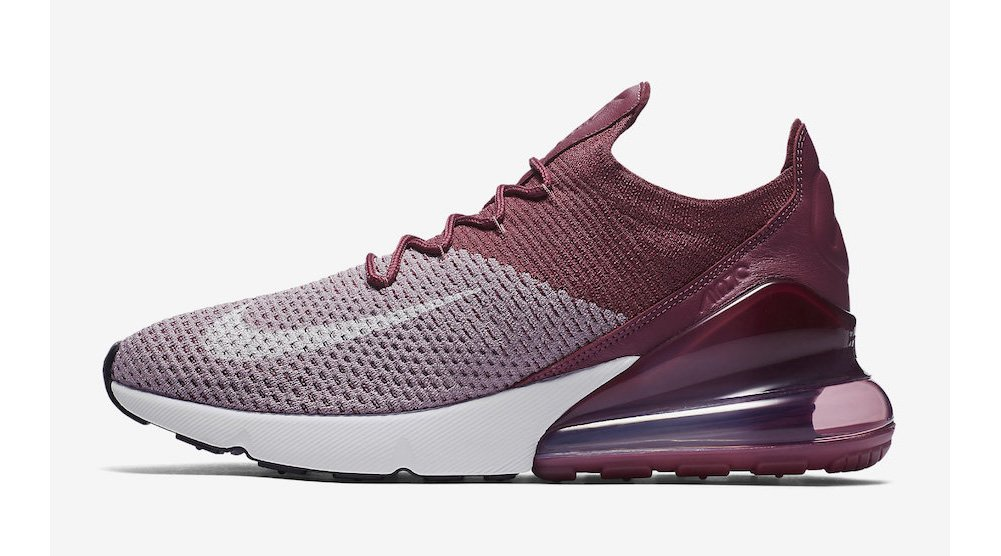 36d8478599d6c5 Galleon - NIKE Men s Air Max 270 Flyknit Plum Fog White Vintage Wine Total  Crimson Nylon Basketball Shoes 9 (D) M US