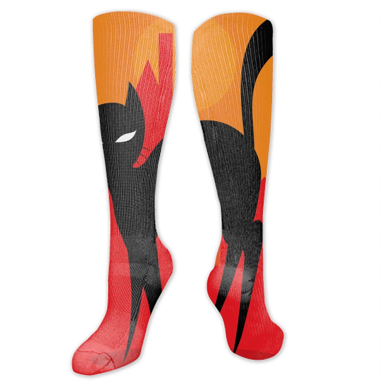 For men and women Gorilla Pattern Socks Knee High Turn Up Rib Colorful Winter Socks