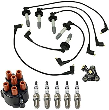 Amazon.com: New Ignition Wires Cap & Rotor Spark Plugs for 1994-1997 Volvo  850 2.3L 2.4L: Automotive   Spark Wiring 1994 Volvo      Amazon