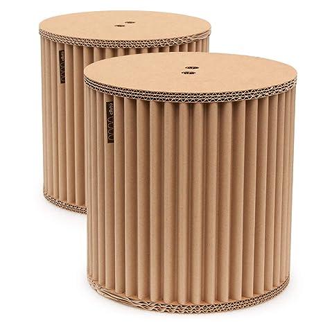Conjunto de taburetes cArtù: dos pequeños taburetes de almacenamiento robustos perfectos para las habitaciones de los niños, pero también estupendos ...