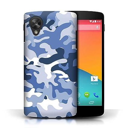 Carcasa/Funda STUFF4 dura para el LG Google Nexus 5/D821 / serie: Marina camuflaje del ejército - Azul 1