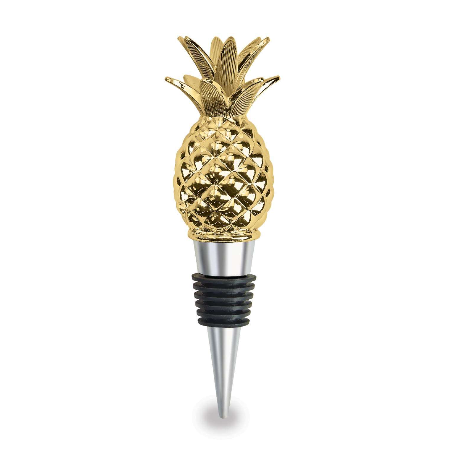 Wild Eye Designs Golden Pineapple Wine Stopper by Wild Eye Designs