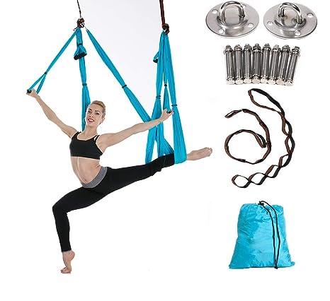 Aerial Hamaca de Yoga,Yoga Swing para Yoga antigravedad, Ejercicios de inversión, Flexibilidad Mejorada y Resistencia del núcleo - Accesorios de ...
